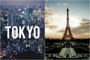 tokyo france collage